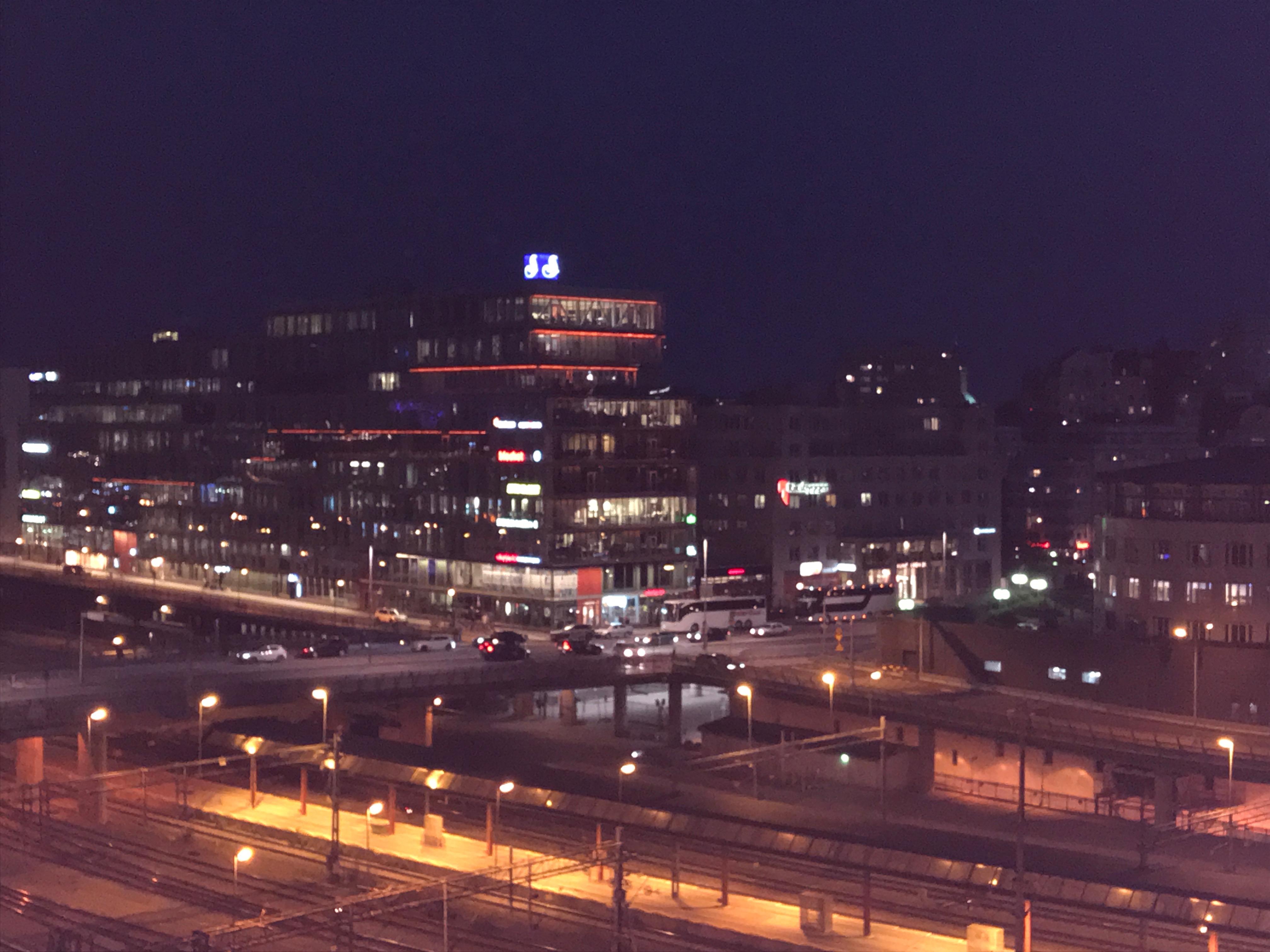 Stockholm i kvällsljus