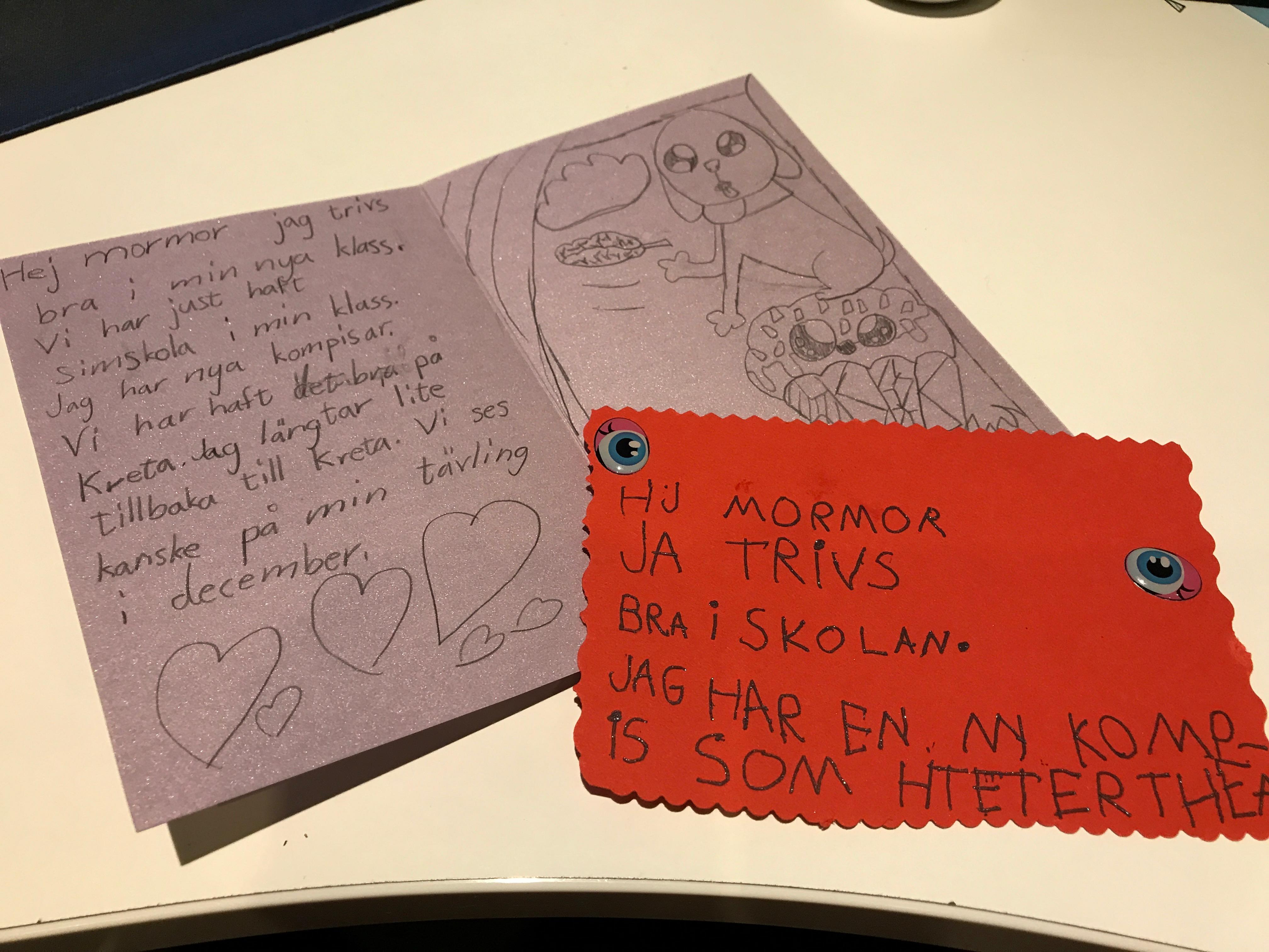 Två brev från mina barnbarn